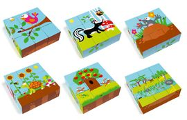Librería Central - Scratch Preschool Puzzle Forest 9 bloques. Toc Toys
