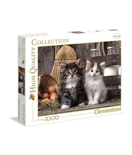 Librería Central - Puzzle 1000 piezas H.C. Lovely Kittens. Clementoni
