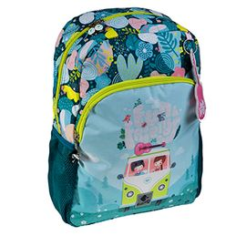 Librería Central - Mochila escolar adaptable a carro doble mediana Back to school verde. Busquets (8422829637946)