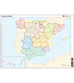 Mapa Politico De España Mudo Vicens Vives.Mapa Mudo Espana Politica