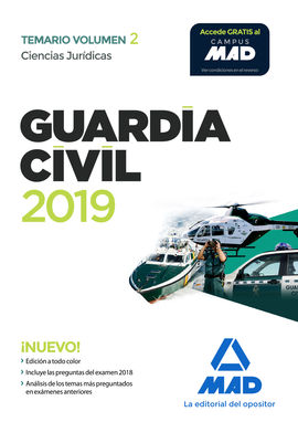 Librería Central - Guardia Civil. Ciencias Jurídicas Temario Volumen 2