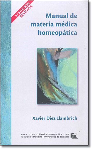 Librería Central - Manual de materia médica homeopática