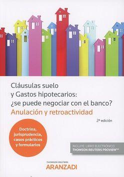 Cl usulas suelo y gastos hipotecatios 9788491526841 for Anulacion clausula suelo